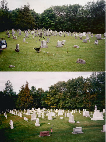 Full Cemetery Clean & Restoration