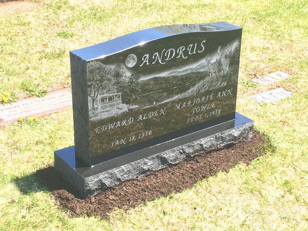 Custom Black Granite Memorial