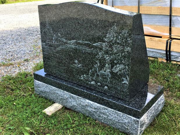 Etching on Impala Granite