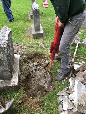 Jackhammering Old Foundation