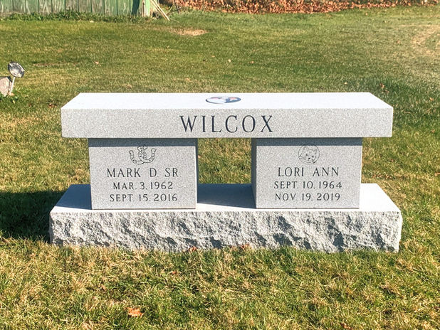 Custom Barre Granite Cremation Bench wit
