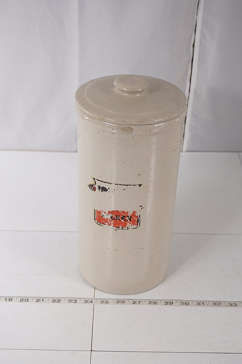 Stoneware Canister With Lid