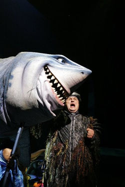 Actor Michael Walters as Bruce The Shark, Original Cast, Finding Nemo The Musical, Walt Disney World