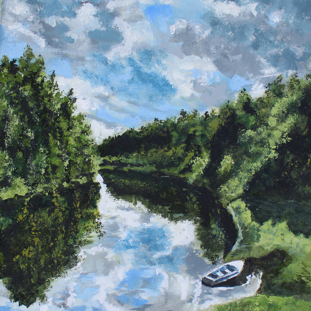 Dan's piece of the Oswegatchie River