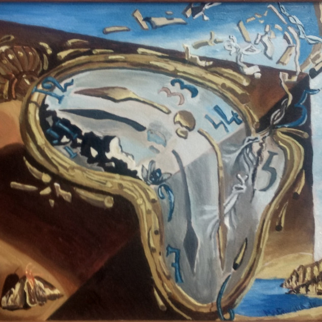 Melting Watch-Dali-Oil on board