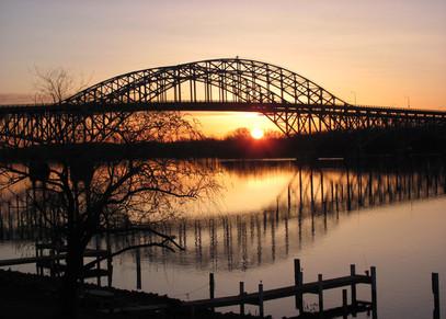 South Grand Island Bridge Sunrise