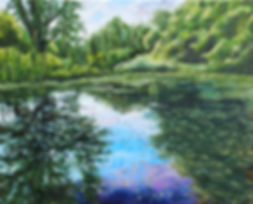 Woods Creek Grand Island-Oil on Canvas-1