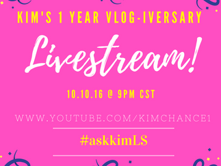 Vlogiversary LiveStream Giveaway!