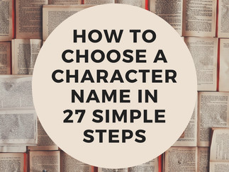 GUEST POST: How to Choose a Character's Name in 27 Simple Steps by Katie Henry
