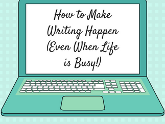 GUEST POST: How to Make Writing Happen (Even When Life is Busy!) by Mae Respicio