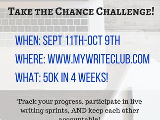 #ChanceChallenge: September Writing Challenge