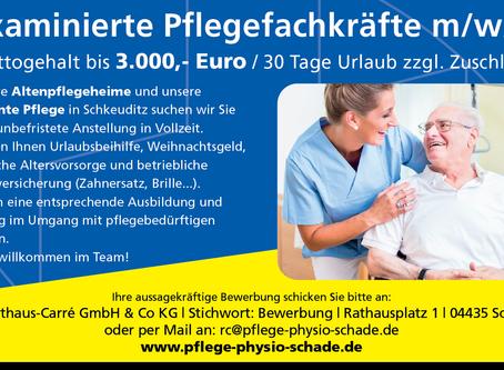 examinierte Pflegefachkräfte m/w/d