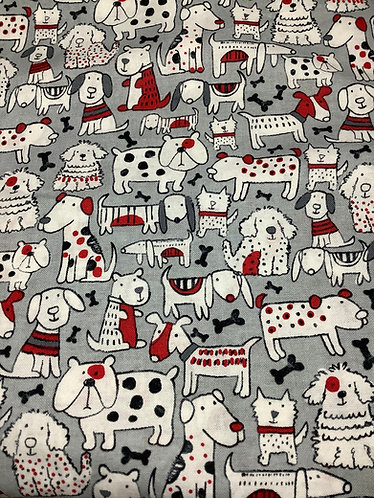 Dogs (Black, White and Red)