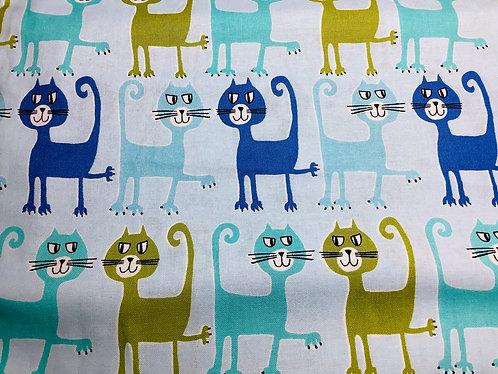 Cats (Green & Blue)