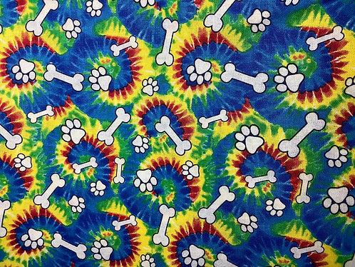 Tie Dye Bones & Pawprints