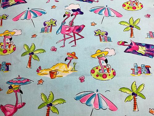 Flamingoes at the Beach