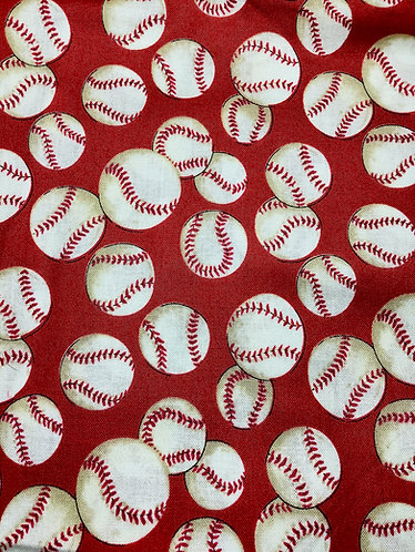 Baseballs (Red Background)