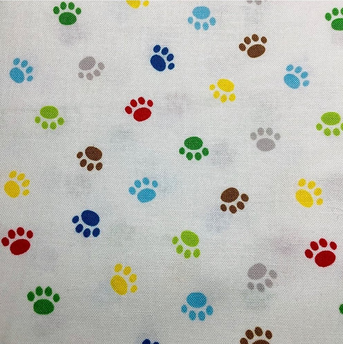 Rainbow Pawprints (White)