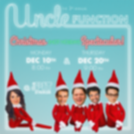 uncle function - holiday poster 18 squar