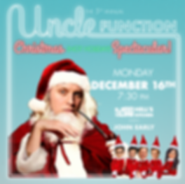 uncle function - holiday poster 19 squar