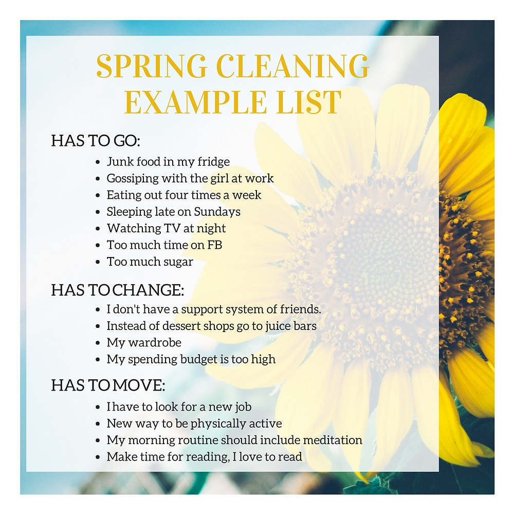 Spring Cleaning Life List
