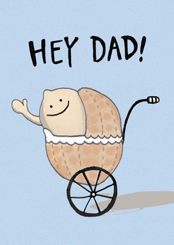 Hey Dad Greeting Card