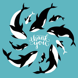 Whale Thank You Greeting Card