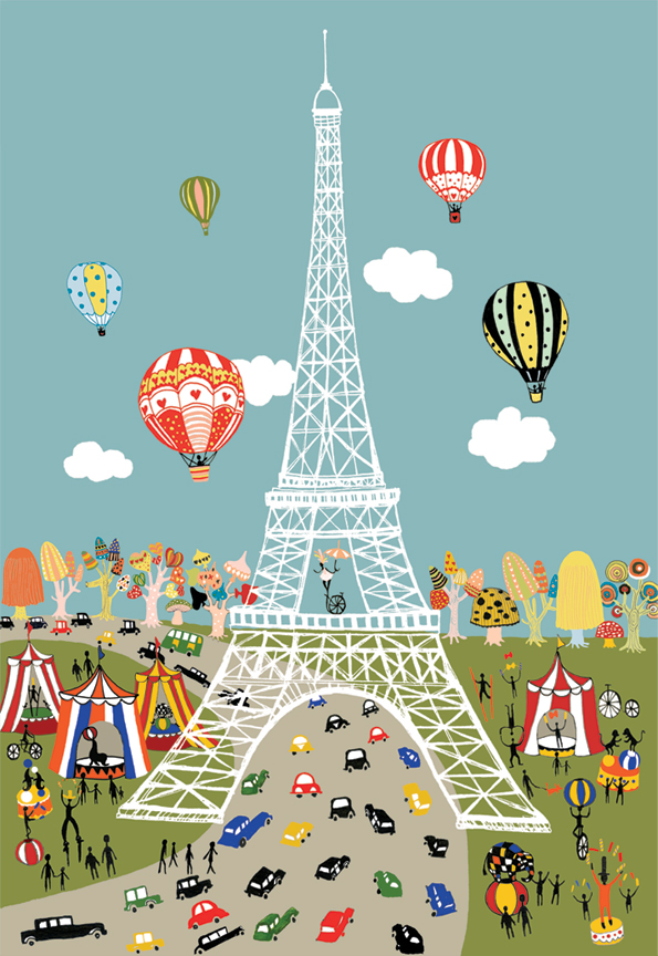 Paris City Illustration