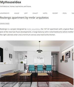Publicação do apartamento Ipê pelo site internacional My House Idea.