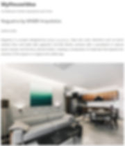 Publicação do apartamento Nogueira pelo site internacional My House Idea.