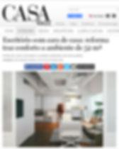 Publicação do escritório Bowler pelo site da Revista CasaVogue.