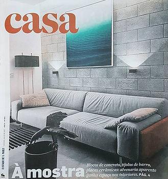 Publicação do projeto apartamento nogueira na capa do caderno casa, que é especializado em decoração e está no jornal O Estado de S. Paulo.