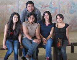 Cynthia, Jorge, Faridi y Sagrario