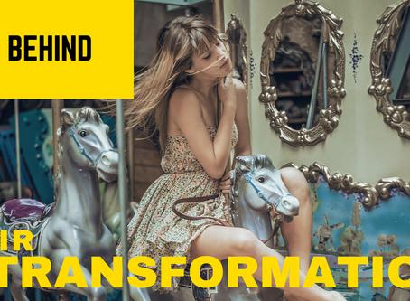 Behind the hair transformation