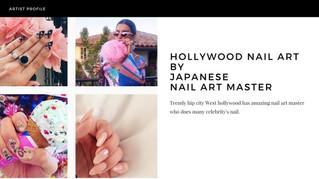 Hollywood nail art by Japanese nail art master