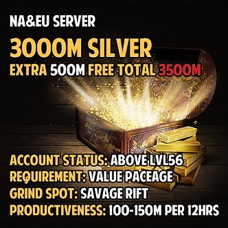 NA/EU server 3500M Silver Boost