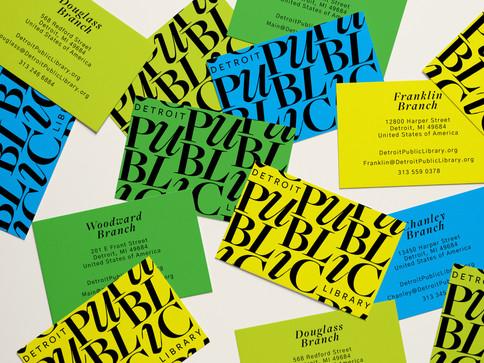 Detroit Public Library Business Cards