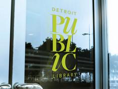 Detroit Public Library Entrance