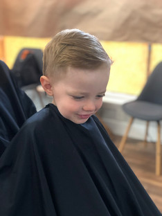 Boy's haircut at The Shop on Market St