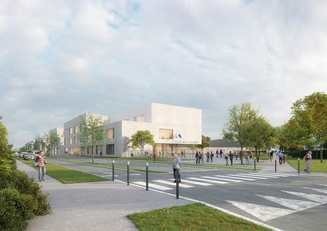 Notre projet lauréat pour la construction d'un collège et d'un gymnase sur la plaine des lin
