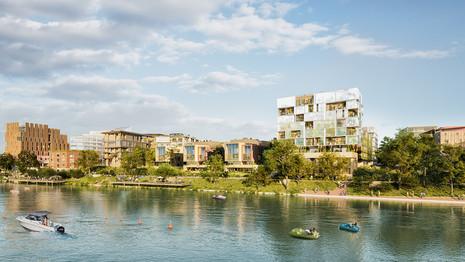 Projet lauréat pour la création du Village des Athlètes de l'écoquartier fluvial de l'Île-Saint-Deni