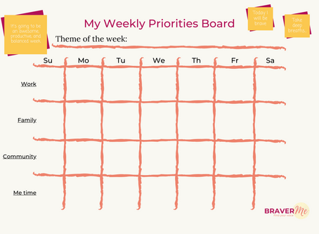 Sharing my weekly priorities board with you