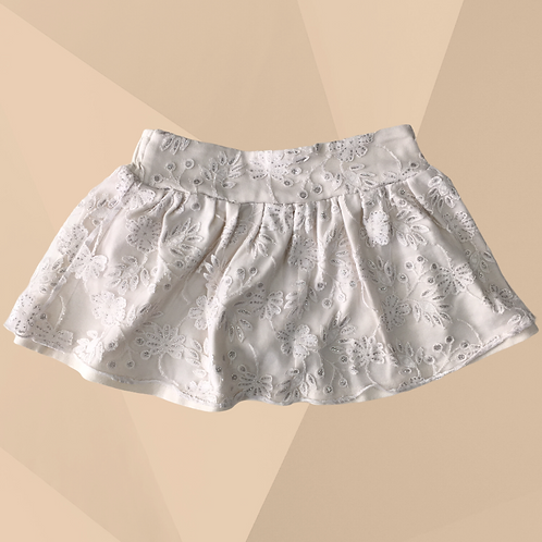 Shorts Saia Off White | Veste 6/9 meses