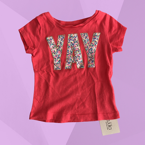 Camiseta Carter's YAY | Veste 9 meses