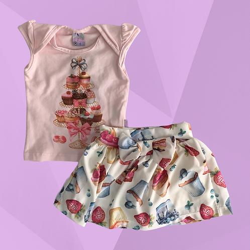 Conjunto Quebra Cabeça | Veste 3 a 6 meses