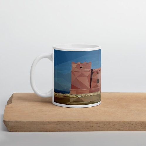 Malta Poly-Art Red Tower Glossy Mug