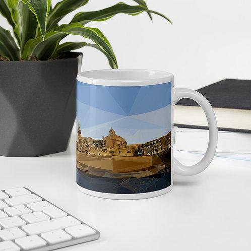Malta Poly-Art Valletta Glossy Mug