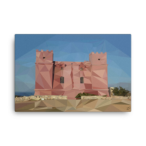 Red Tower Poly-Art Canvas 36 x 25 - Liam C.