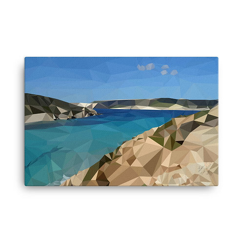 Comino's Blue Lagoon - Poly Art on Canvas 24 / 36