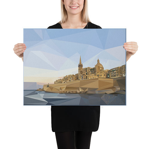 Poly Art Canvas Valletta 18x24 Liam C. Design